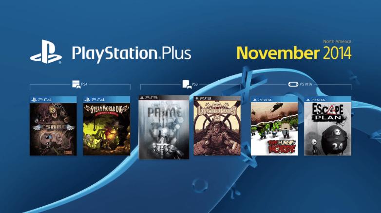 PS4 PS3 PS Vita Free Games November