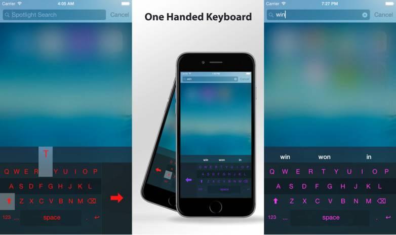 iPhone 6/Plus One Handed Keyboard