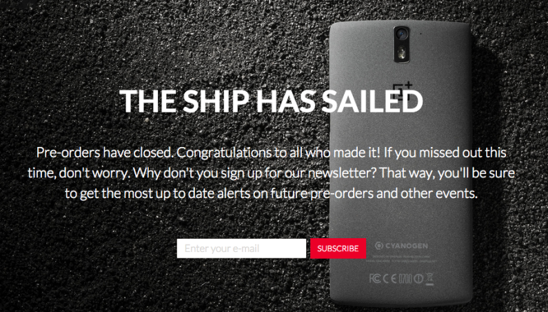 OnePlus One Preorders