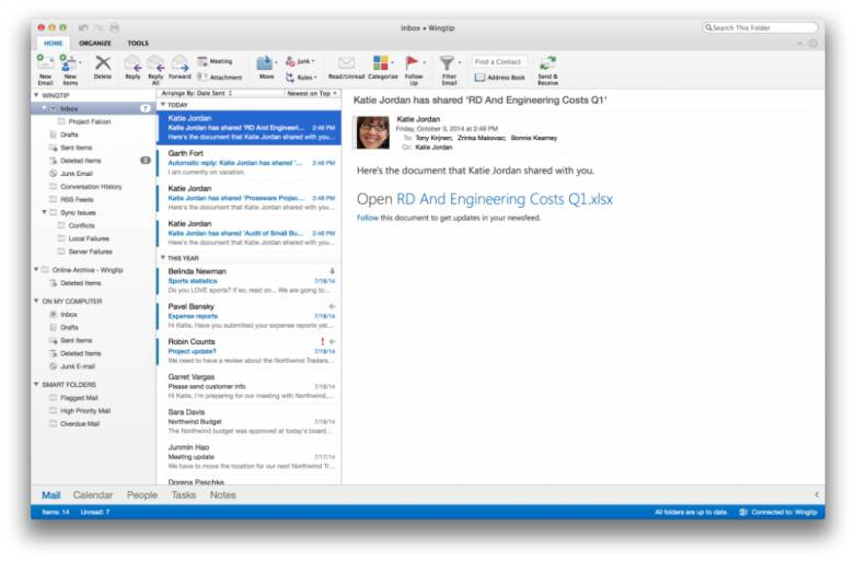 Office for Mac 2015 Release Date