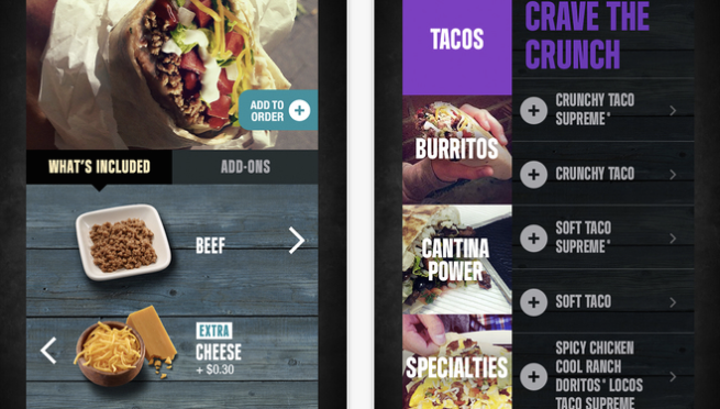 Taco Bell iOS Android App