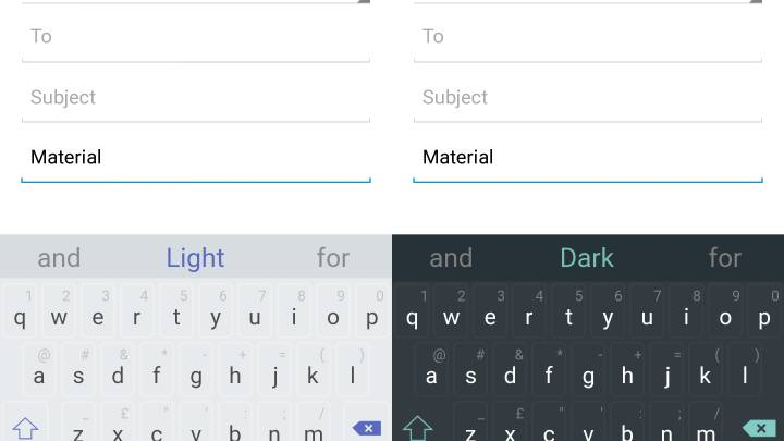 SwiftKey Material Design Keyboard Themes