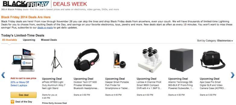 Amazon Black Friday 2014 Sales