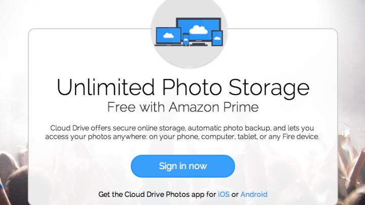 Amazon Prime Unlimited Photo Storage