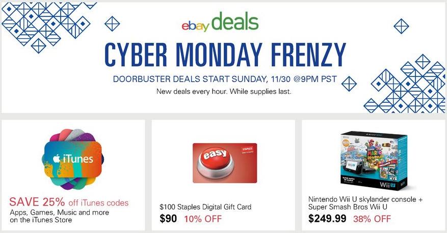 eBay Cyber Monday 2014 Sale
