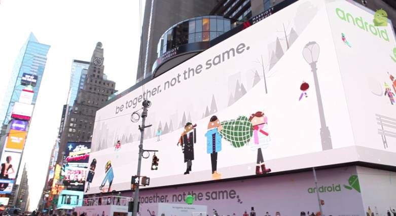 Google Android Billboard in Times Square