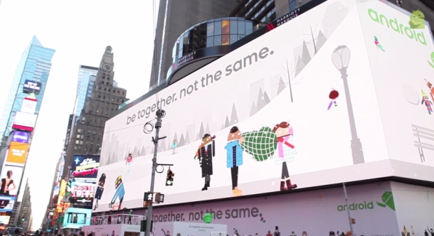 Google takes over Times Square with massive, interactive, Android billboard