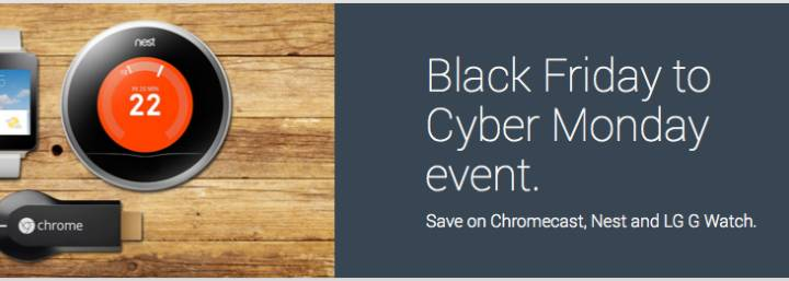 Google Black Friday and Cyber Monday Deals