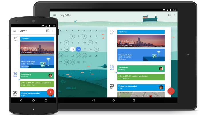 Google Calendar for Android 5.0 Lollipop