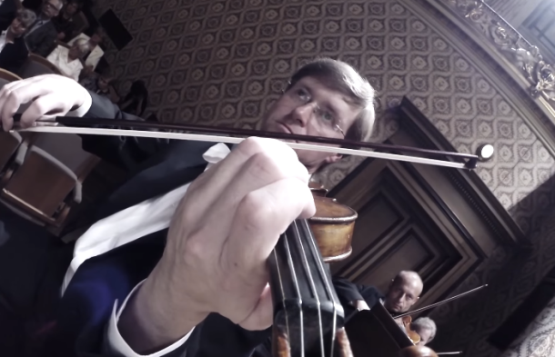 Orchestra uses 24 GoPro cameras to give you an amazing up close look at its performance