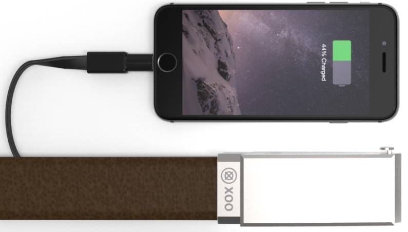 Indiegogo XOO Belt iPhone and Android Battery