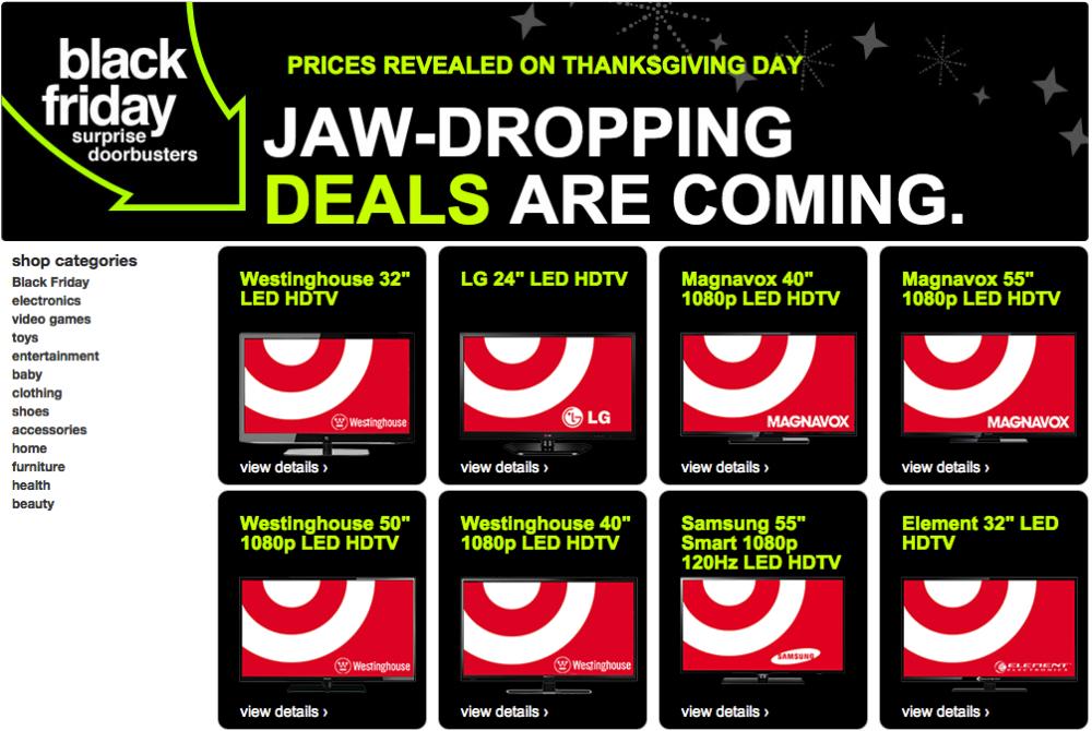 Target Black Friday 2014 Surprise Doorbusters