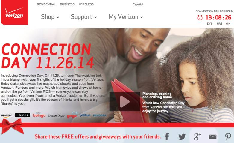 Verizon Connection Day and Black Friday