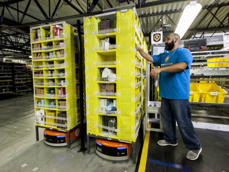 Amazon Kiva Order Fulfillment Robots