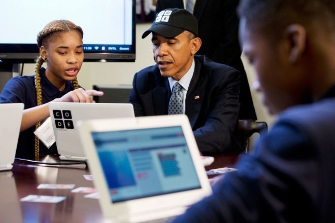Barack Obama Hour of Code Event