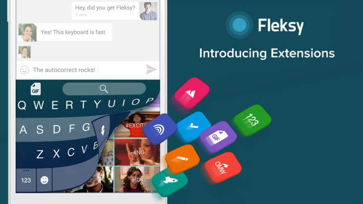 Fleksy 5.0 for iPhone and Android