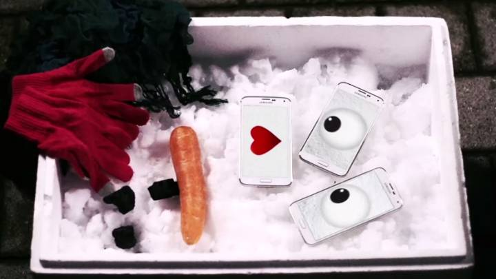 Galaxy S5 Snowman Video Commercial