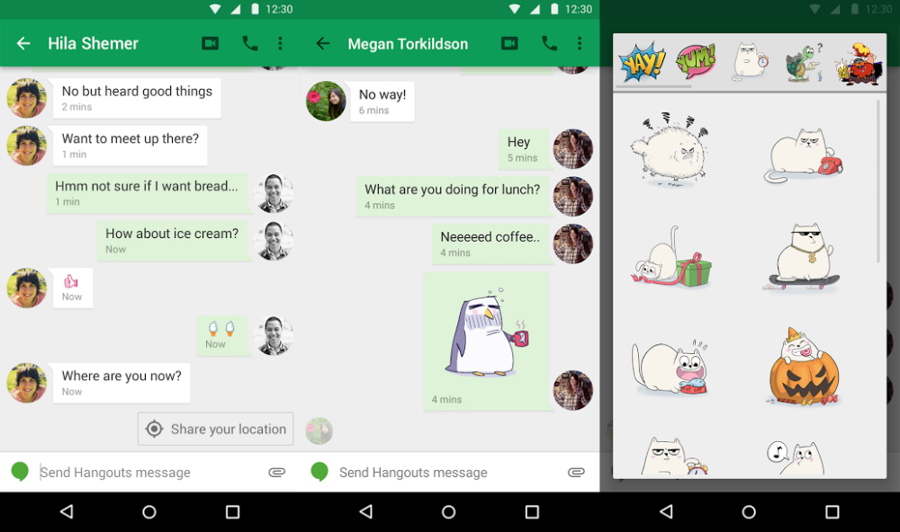 Hangouts for Android Features