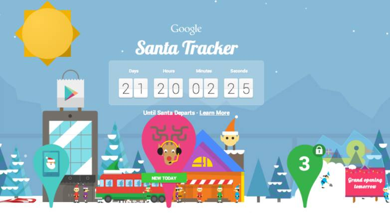 Google Santa Tracker Tool