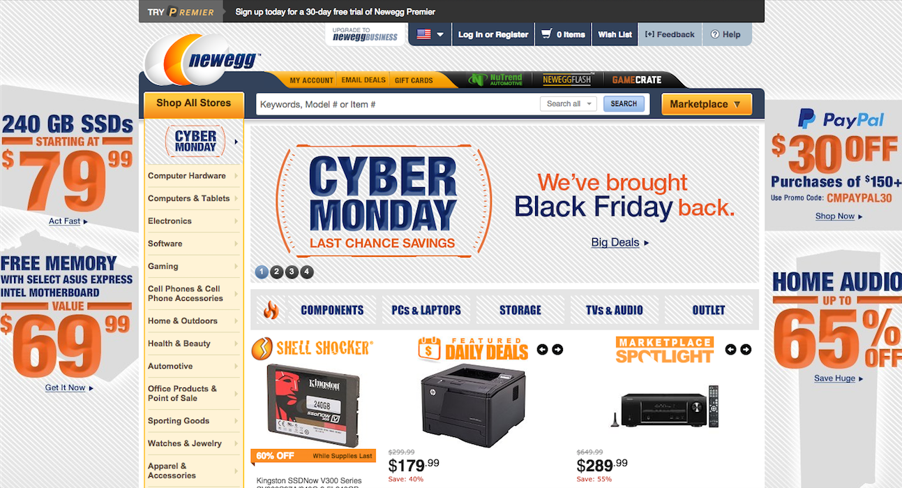 Newegg has some of the best Cyber Monday electronics deals online ...