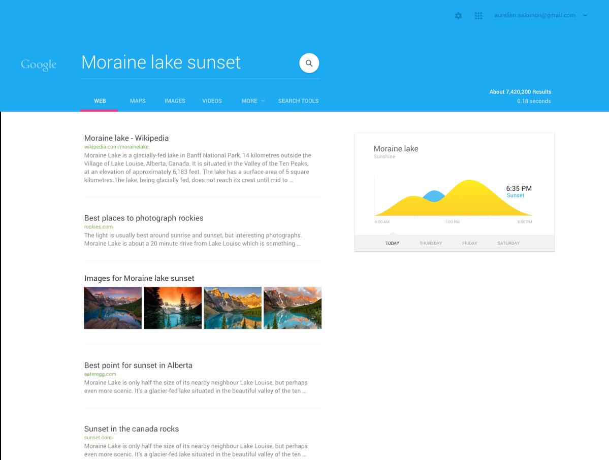Google Search Material Design