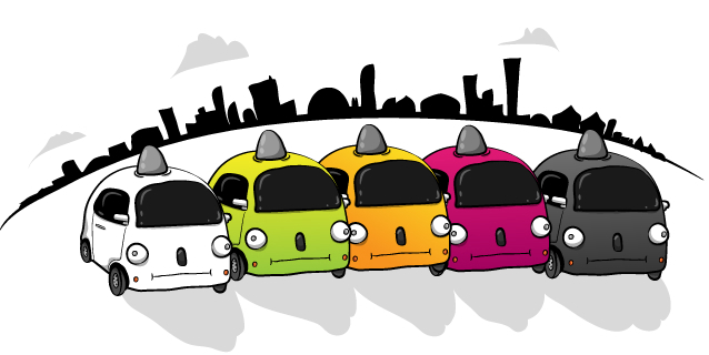 The Oatmeal's Google Self-driving Car Review