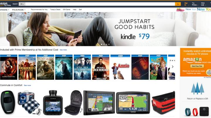 Amazon.com Home Page Redesign