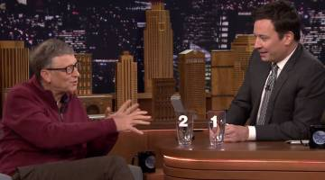Jimmy Fallon and Bill Gates Poop Water