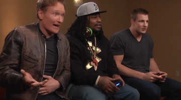 Marshawn Lynch Rob Gronkowski Mortal Kombat Conan Video