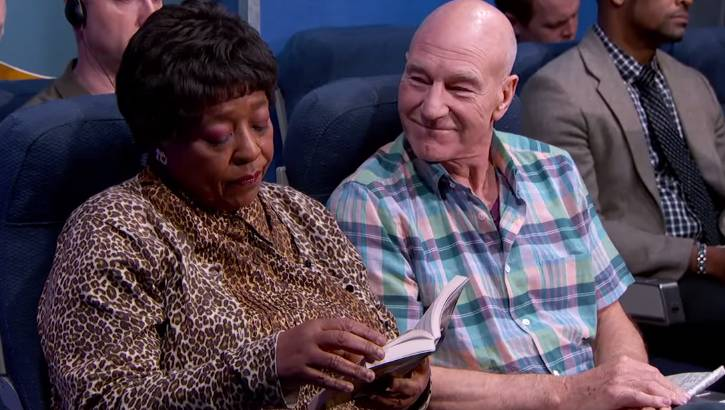Jimmy Kimmel: Sir Patrick Stewart Airplane Video