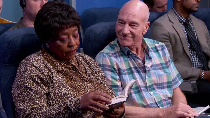 Jimmy Kimmel: Sir Patrick Stewart Airplane Video