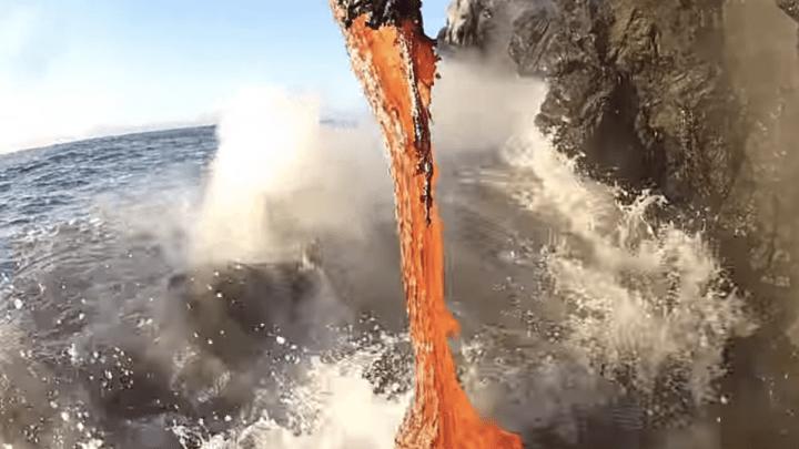 Video Molten Lava Flow