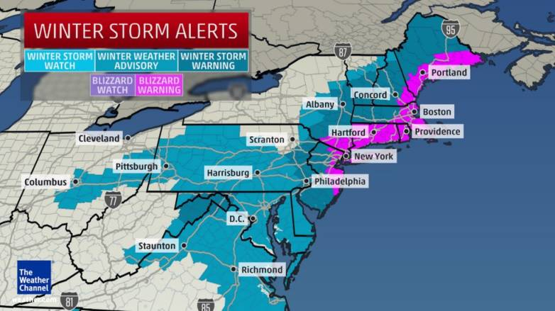 Northeastern United States Blizzard Forecast