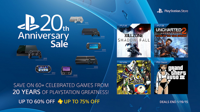 PlayStation 20th Anniversary Sale