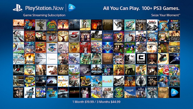 PlayStation Now Game Streaming Subscriptions