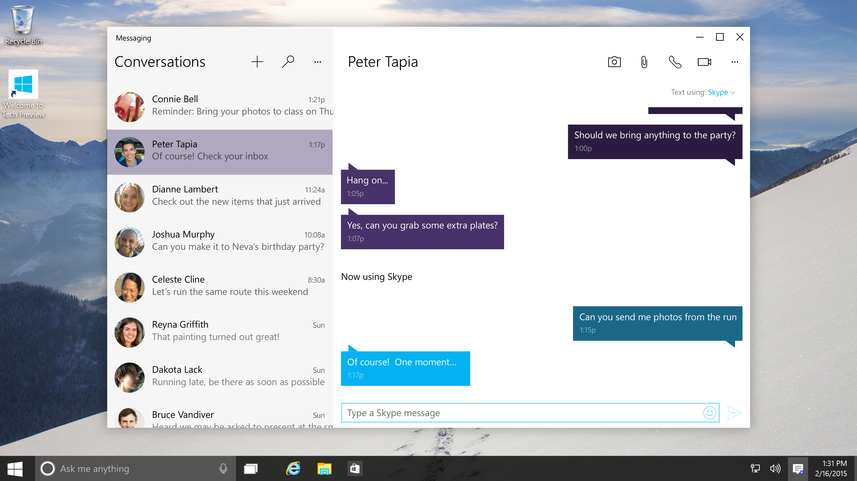 See what skype will look like on windows 10 bgr for Microsoft windows 10