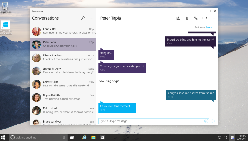 Skype Windows 10 Preview