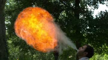 Fire Breathing Slow Motion Video