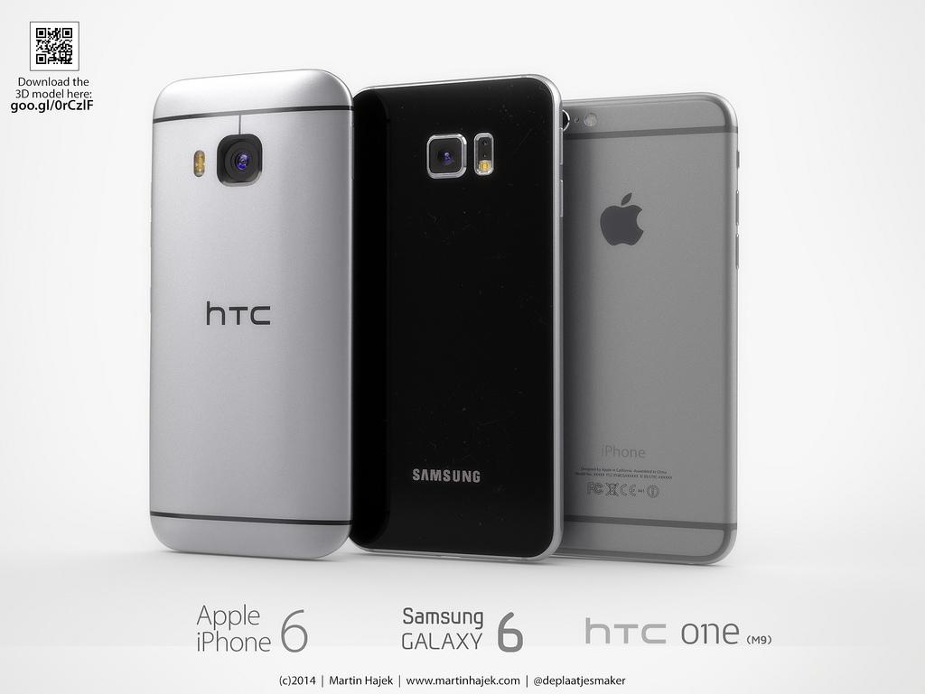 HTC One M9 vs. Galaxy S6 vs. iPhone 6