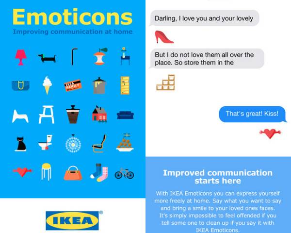 Ikea Emoticons iOS and Android