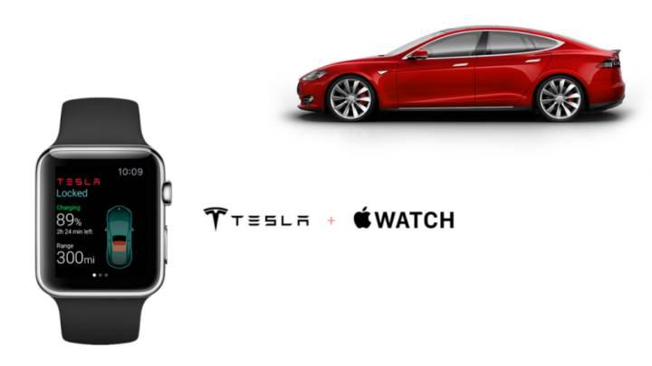 iPhone 6 Apple Watch Tesla App