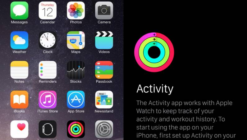 Apple Watch: iOS 8.2 Activity App for iPhone