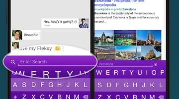 Fleksy Yahoo Search Extension