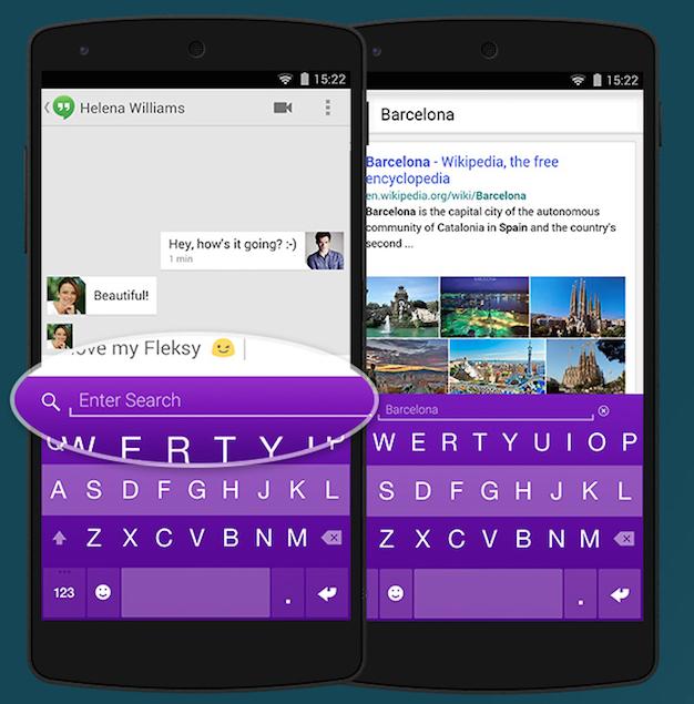 Fleksy Yahoo Search Extension