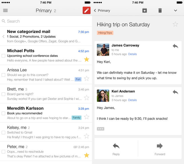 Gmail for iOS Update