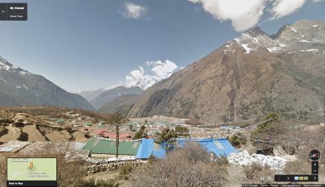 Google Street View Mt. Everest