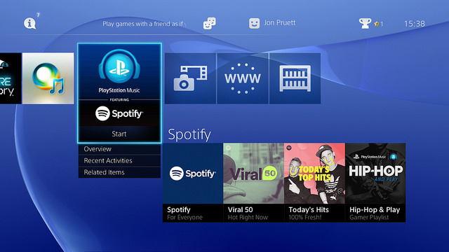 Spotify PS4 Launch