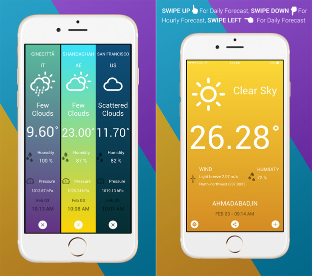 Best iphone weather apps new free app is ridiculously for Application iphone temperature interieur