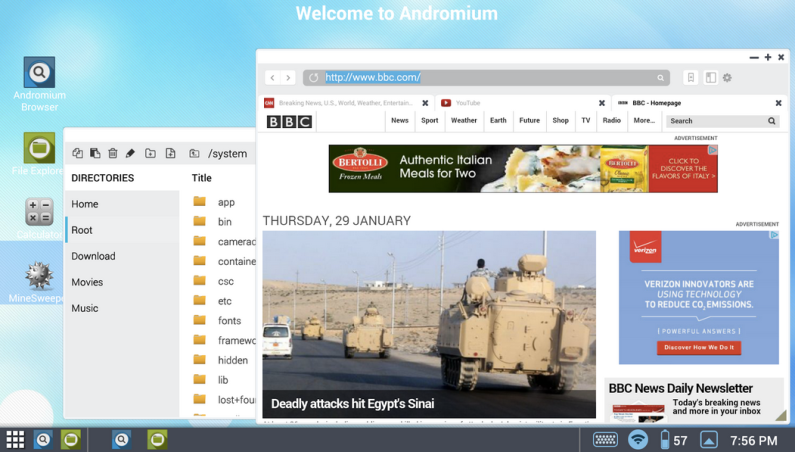 Android Tablet Andromium OS