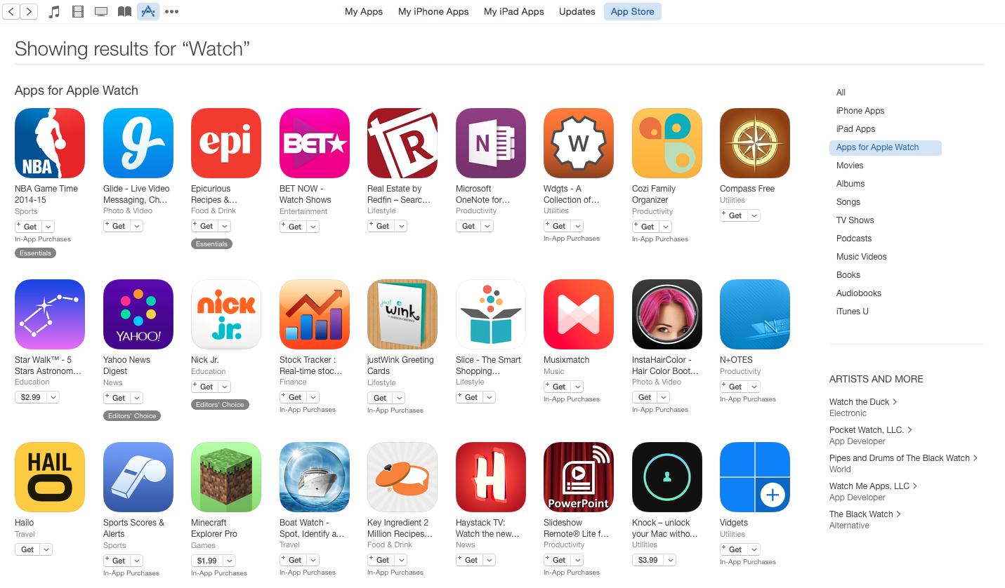 Apple Watch Apps in App Store